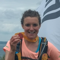 Jen Durkin with her London Marathon medal