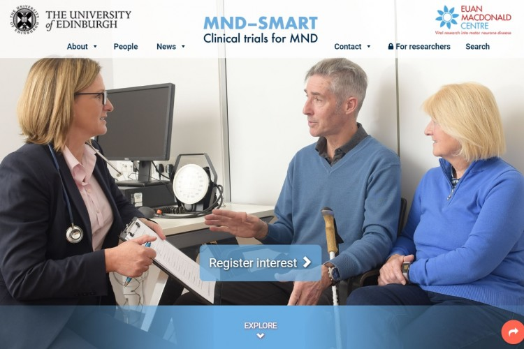 MND-SMART website homepage